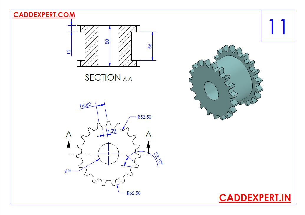 SOLIDWORKS DRAWING 3D FOR PRACTICE - 11