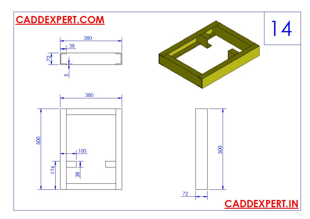 SOLIDWORKS DRAWING 3D FOR PRACTICE - 14