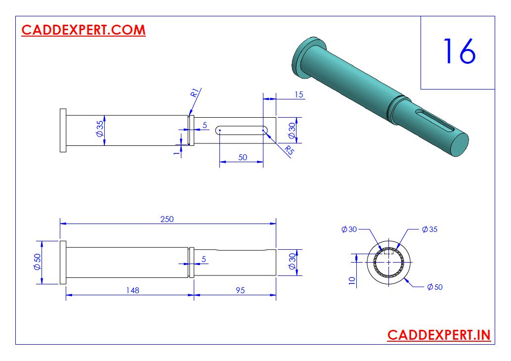 SOLIDWORKS DRAWING 3D FOR PRACTICE - 16