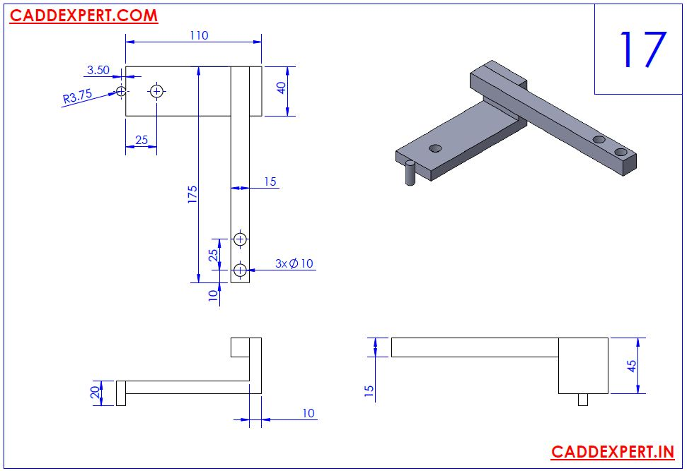 SOLIDWORKS DRAWING 3D FOR PRACTICE - 17