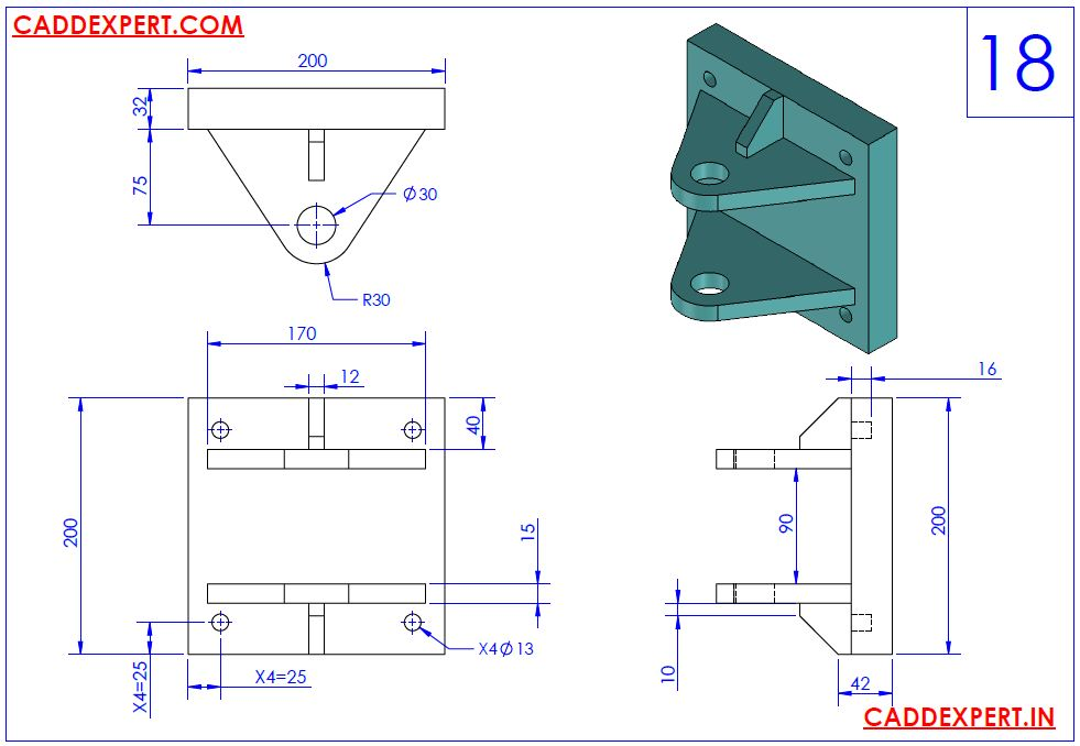 SOLIDWORKS DRAWING 3D FOR PRACTICE - 18