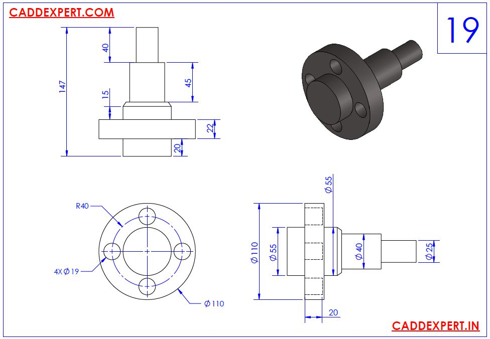 SOLIDWORKS DRAWING 3D FOR PRACTICE - 19