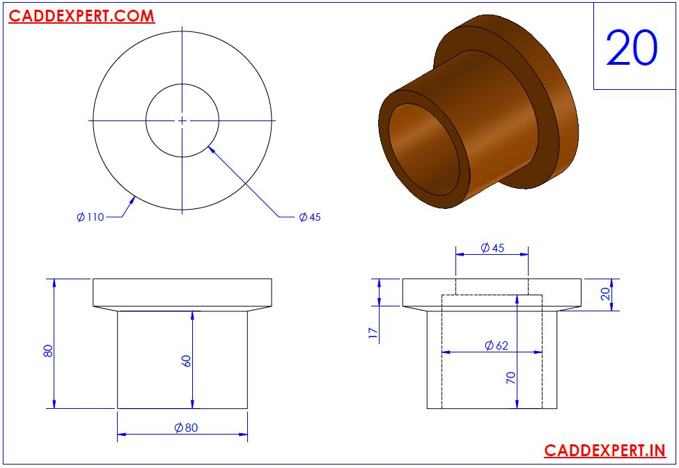 SOLIDWORKS DRAWING 3D FOR PRACTICE - 20