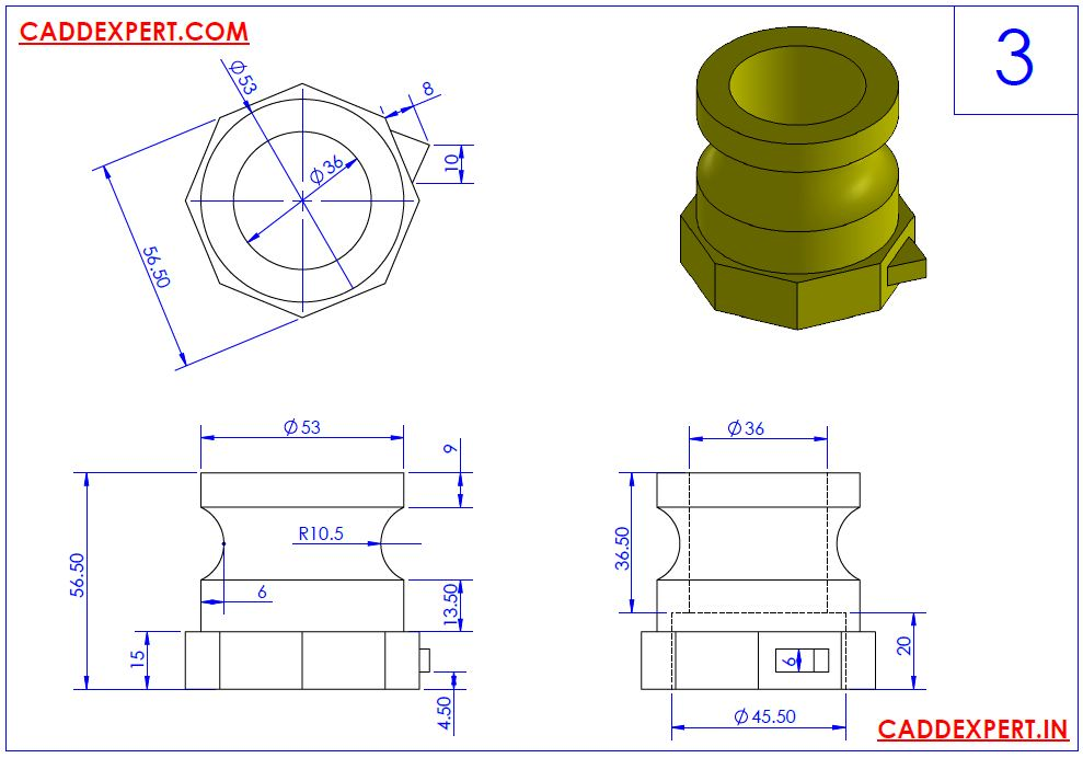 SOLIDWORKS DRAWING 3D FOR PRACTICE - 3