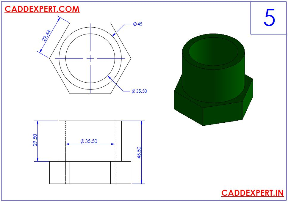 SOLIDWORKS DRAWING 3D FOR PRACTICE - 5