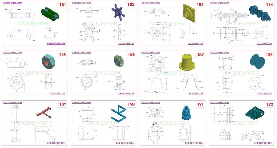 NX 3D MODELING PRACTICE DRAWINGS PDF