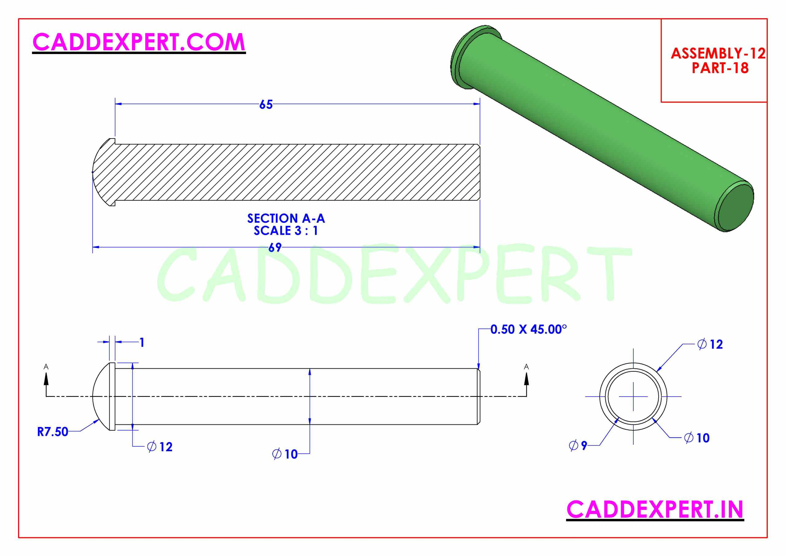 SOLIDWORKS ASSEMBLY JACK SCREW PART - 18