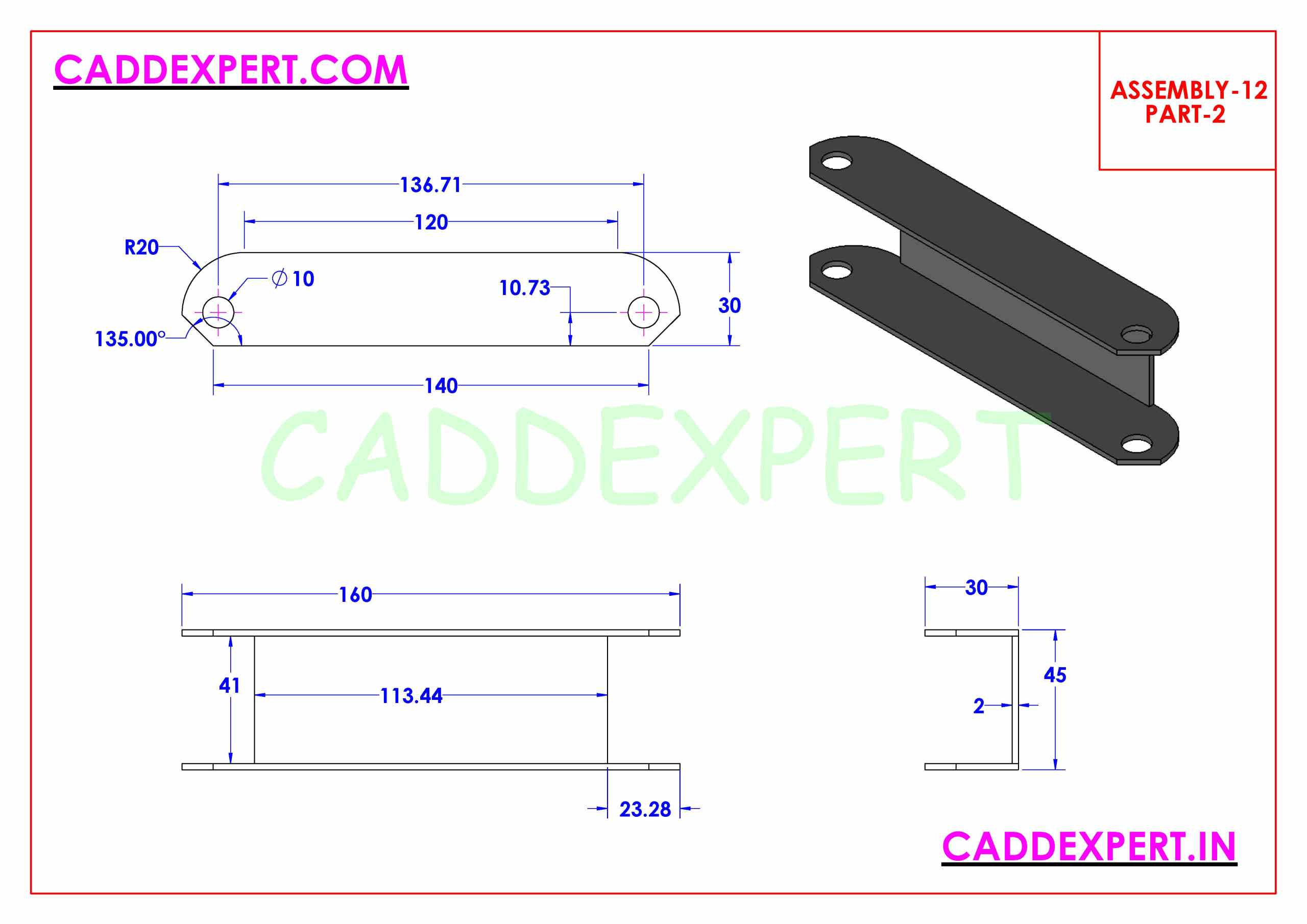 SOLIDWORKS ASSEMBLY JACK SCREW PART - 2