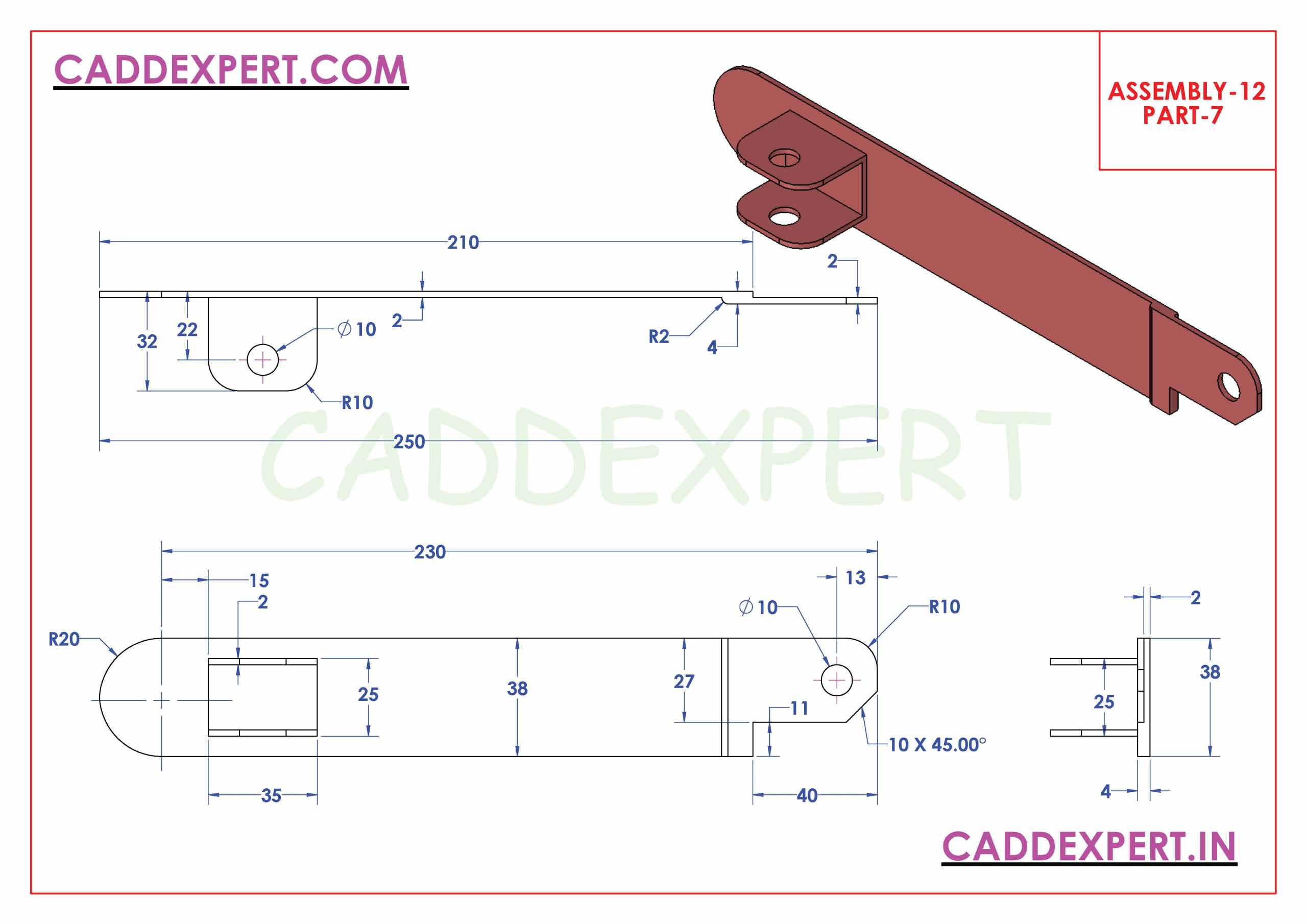 SOLIDWORKS ASSEMBLY JACK SCREW PART - 7