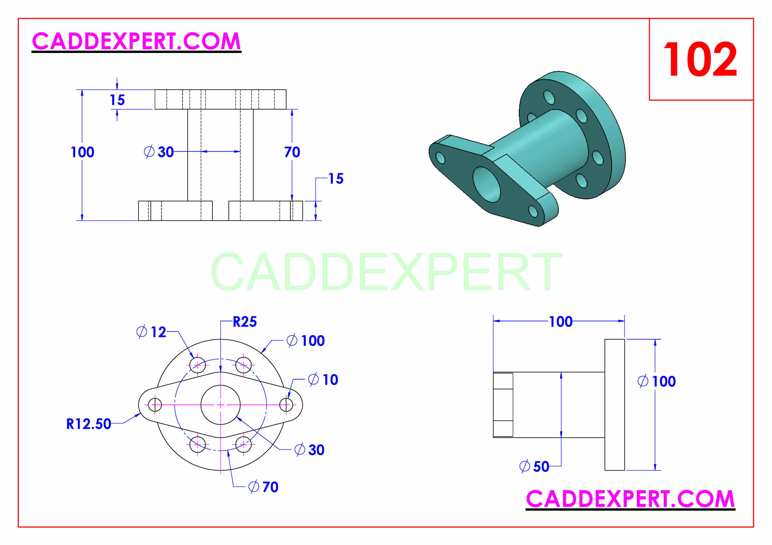 50 SOLIDWORKS EXERCISES PDF - 102