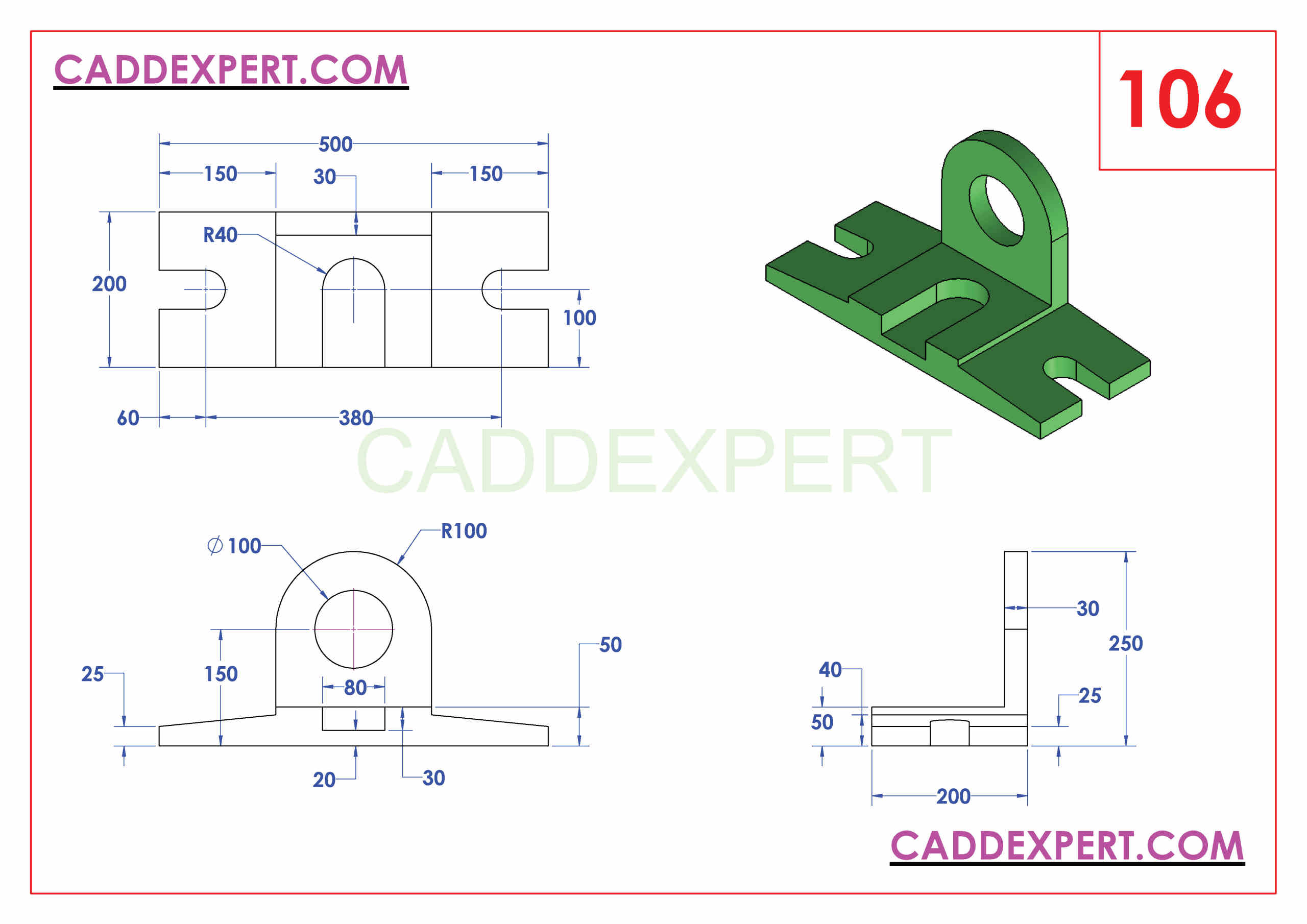 50 SOLIDWORKS EXERCISES PDF - 106