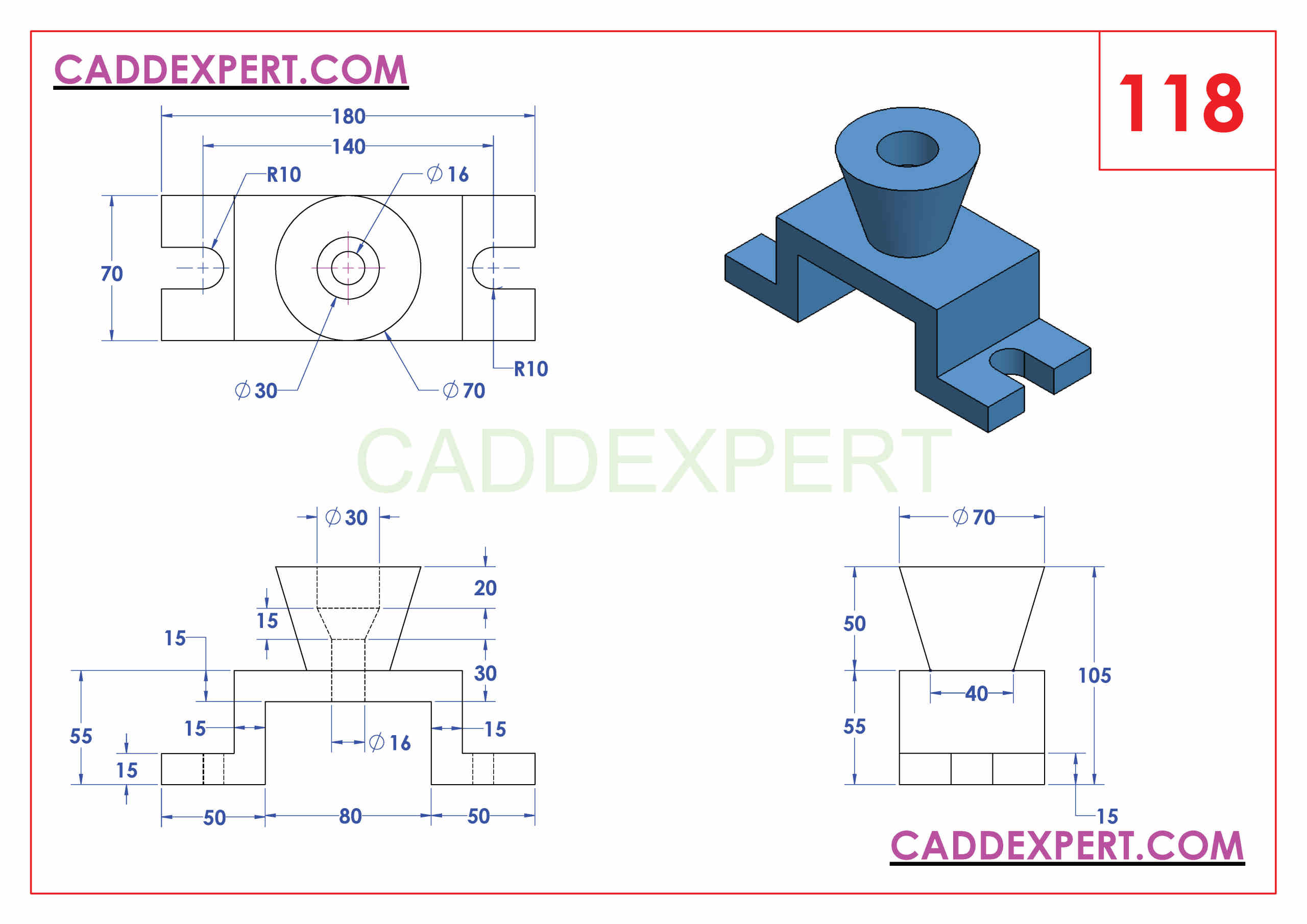 SOLIDWORKS CATIA NX AUTOCAD 3D DRAWINGS PRACTICE BOOKS 100 PDF -118