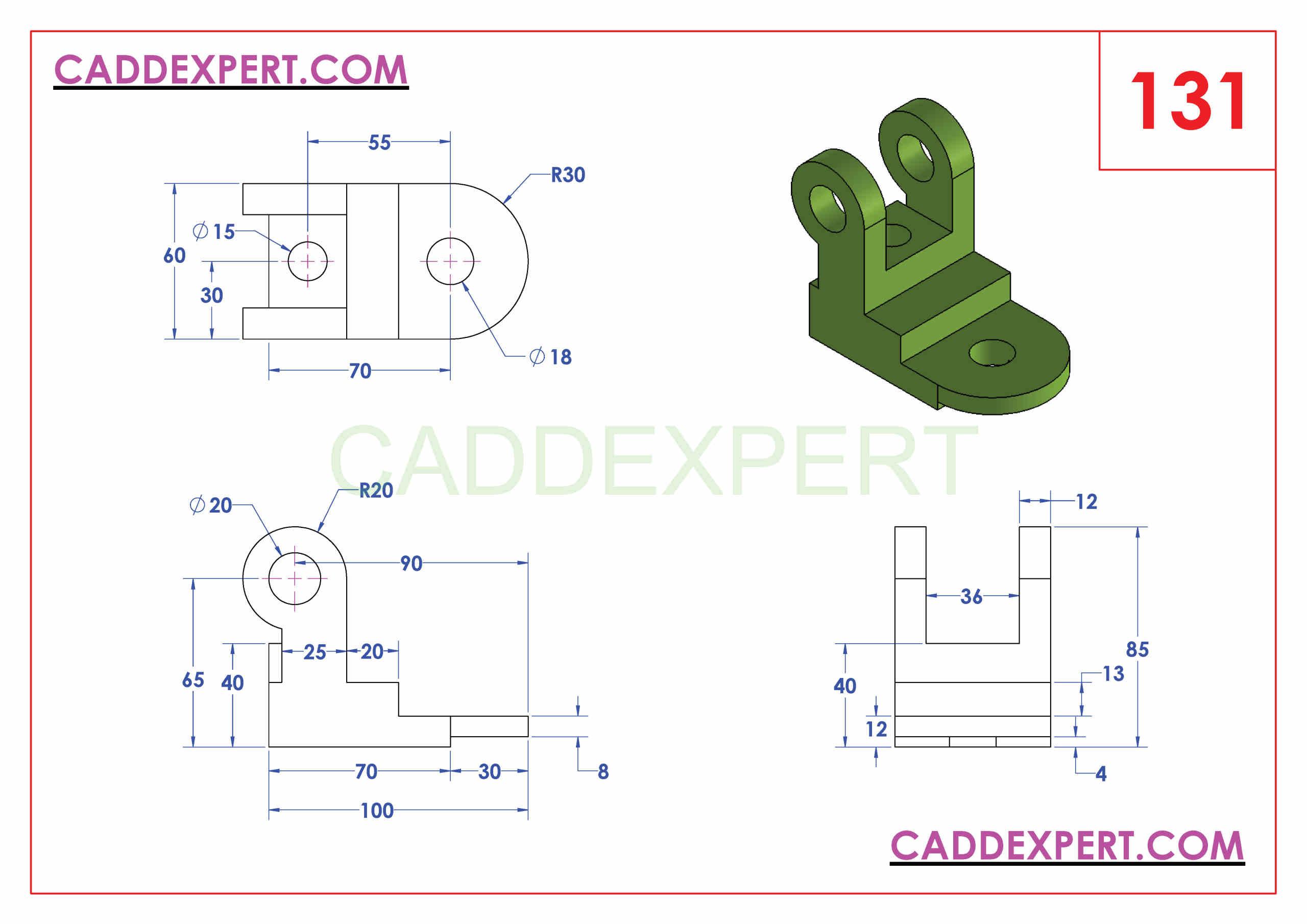 SOLIDWORKS CATIA NX AUTOCAD 3D DRAWINGS PRACTICE BOOKS 100 PDF -131