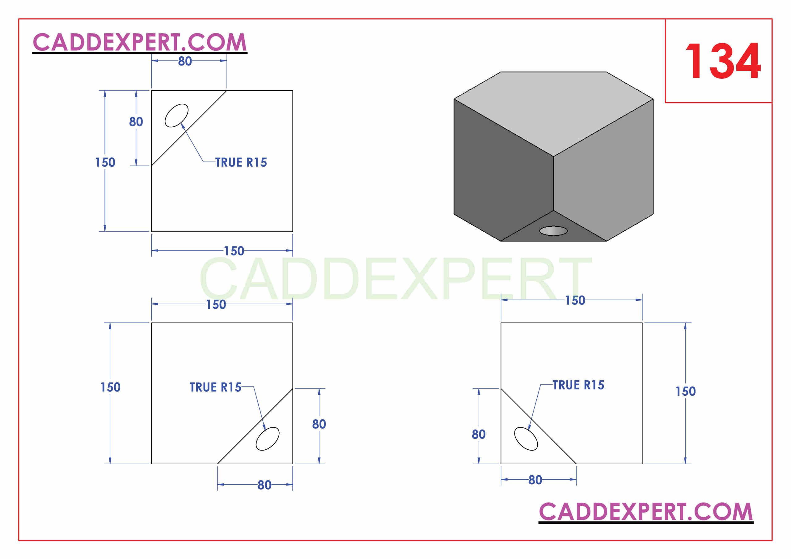 SOLIDWORKS CATIA NX AUTOCAD 3D DRAWINGS PRACTICE BOOKS 100 PDF -134