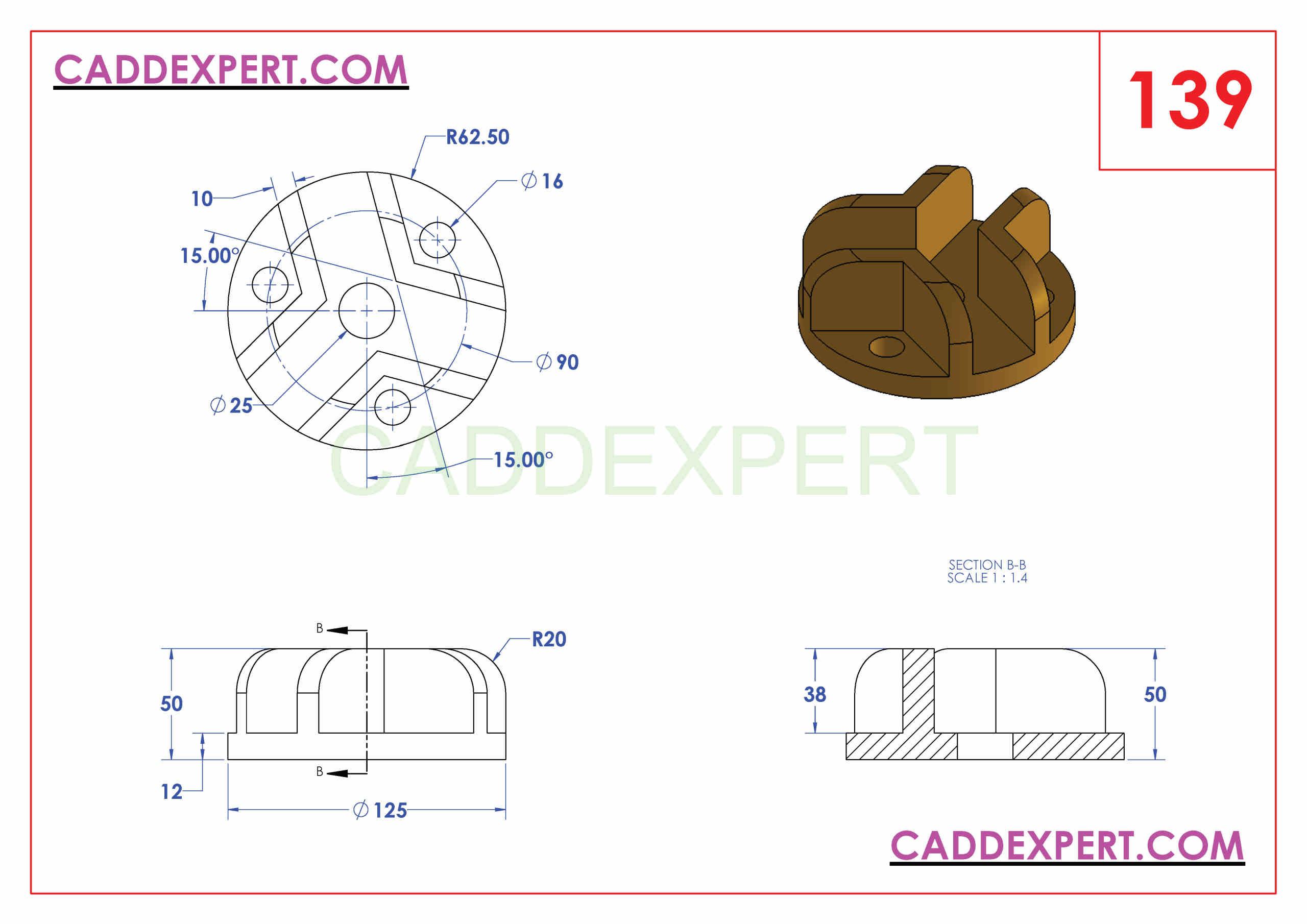 SOLIDWORKS CATIA NX AUTOCAD 3D DRAWINGS PRACTICE BOOKS 100 PDF -139