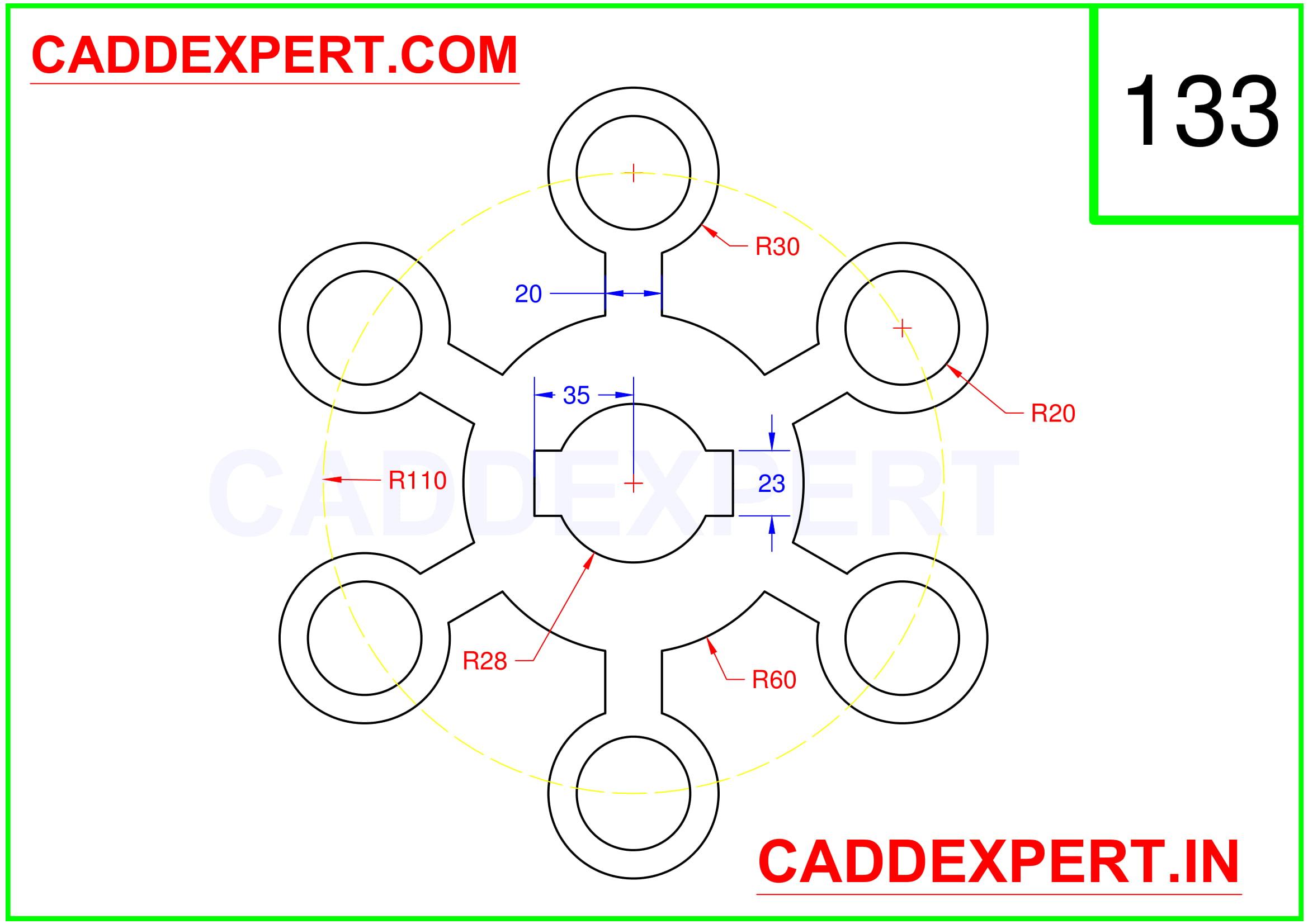 AUTOCAD 2D DRAWING IMAGE - 3