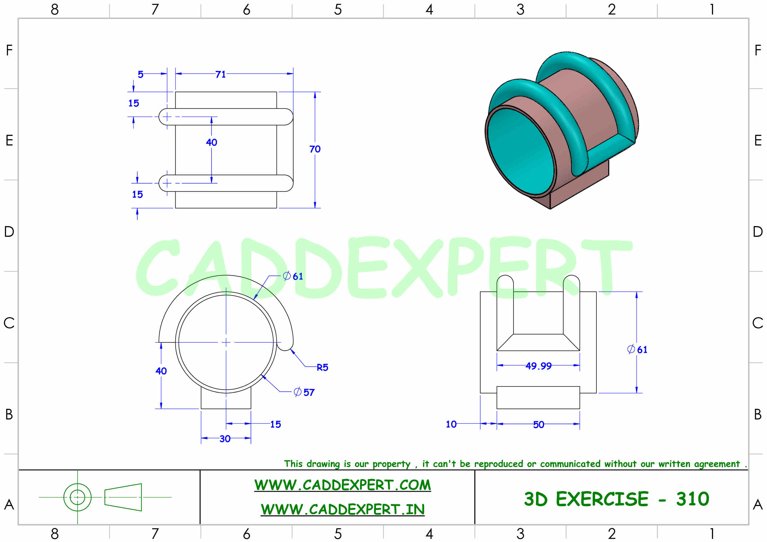 SOLIDWORKS 3D DRAWING FOR PRACTICE PDF - 10