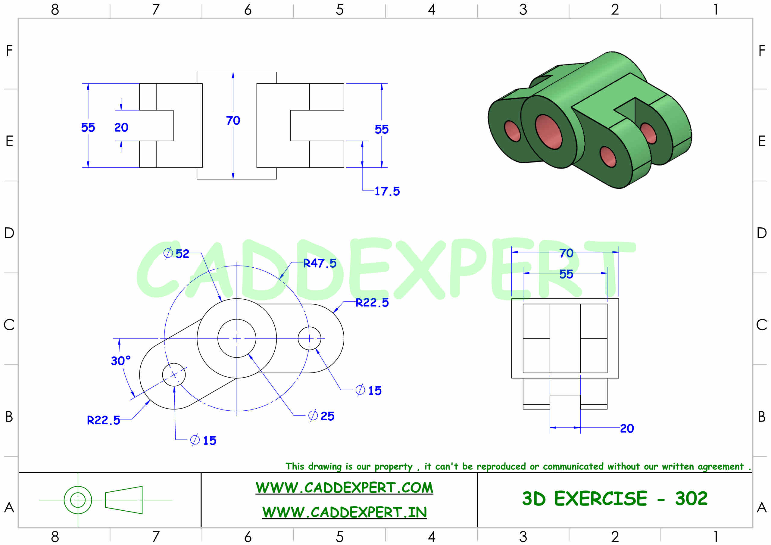 SOLIDWORKS 3D DRAWING FOR PRACTICE PDF - 2