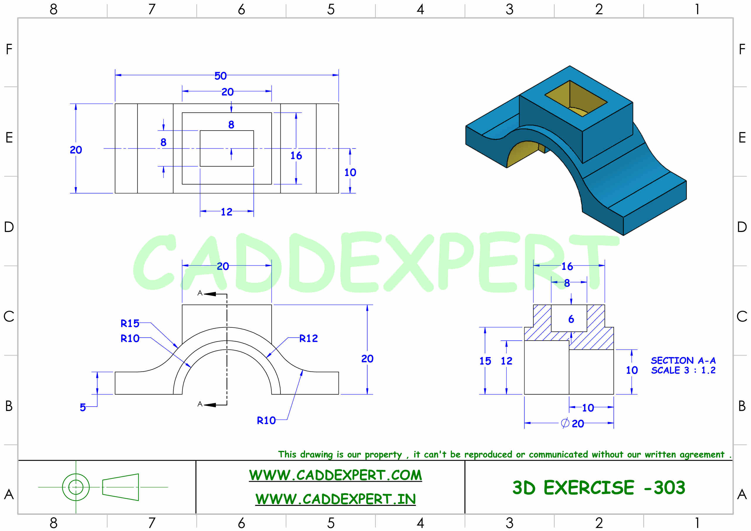 SOLIDWORKS 3D DRAWING FOR PRACTICE PDF - 3