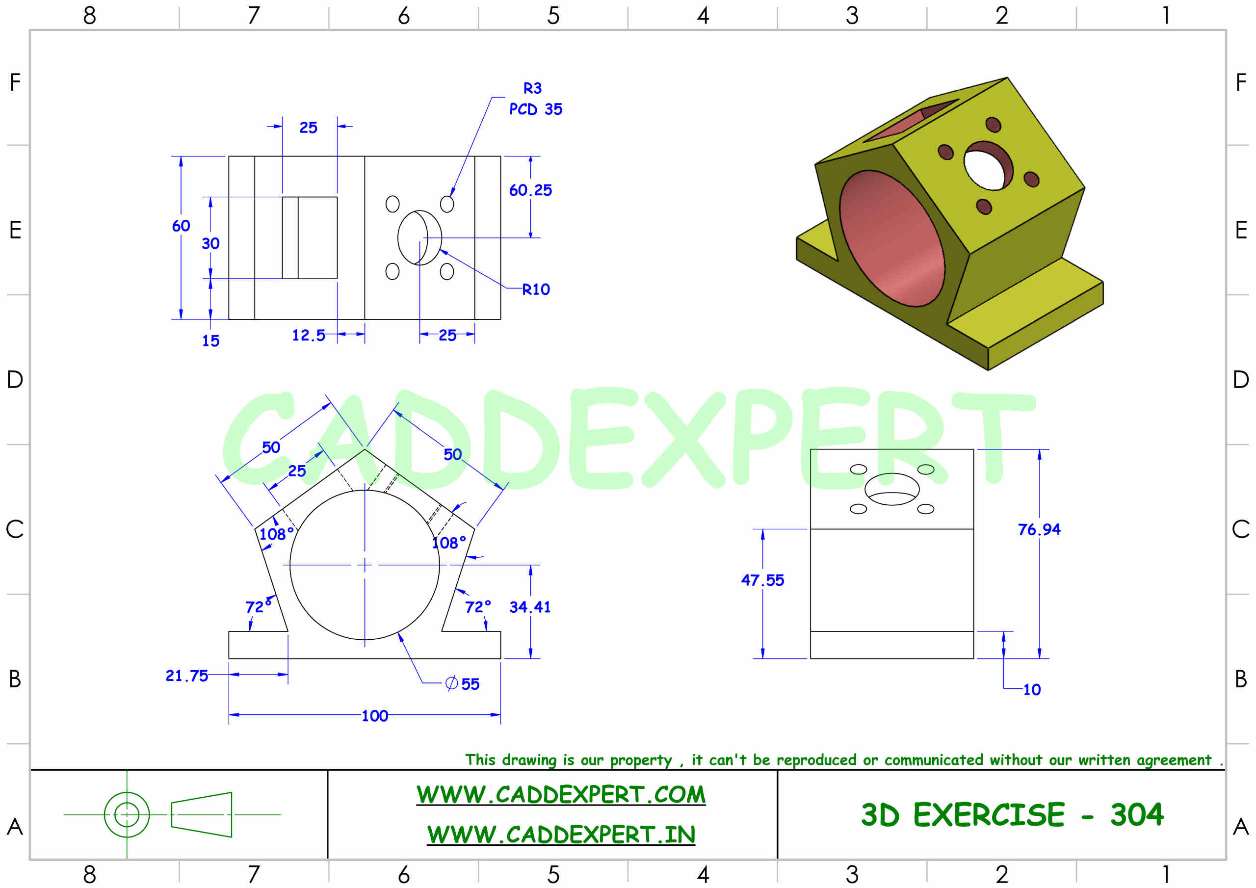 SOLIDWORKS 3D DRAWING FOR PRACTICE PDF - 4