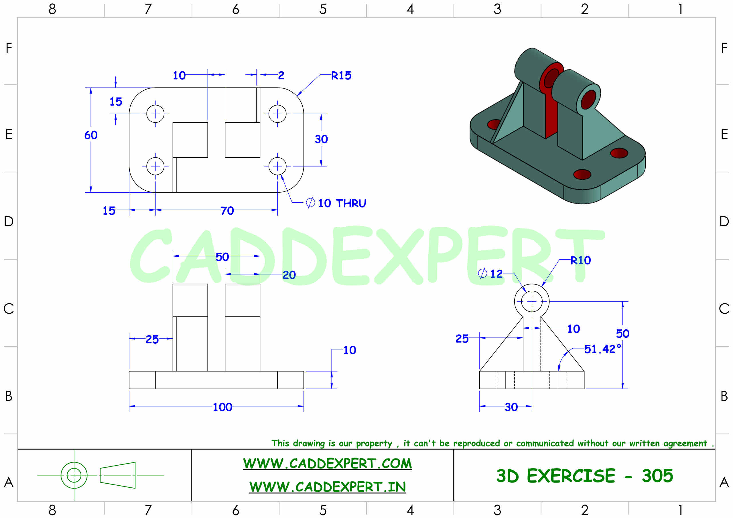 SOLIDWORKS 3D DRAWING FOR PRACTICE PDF - 5