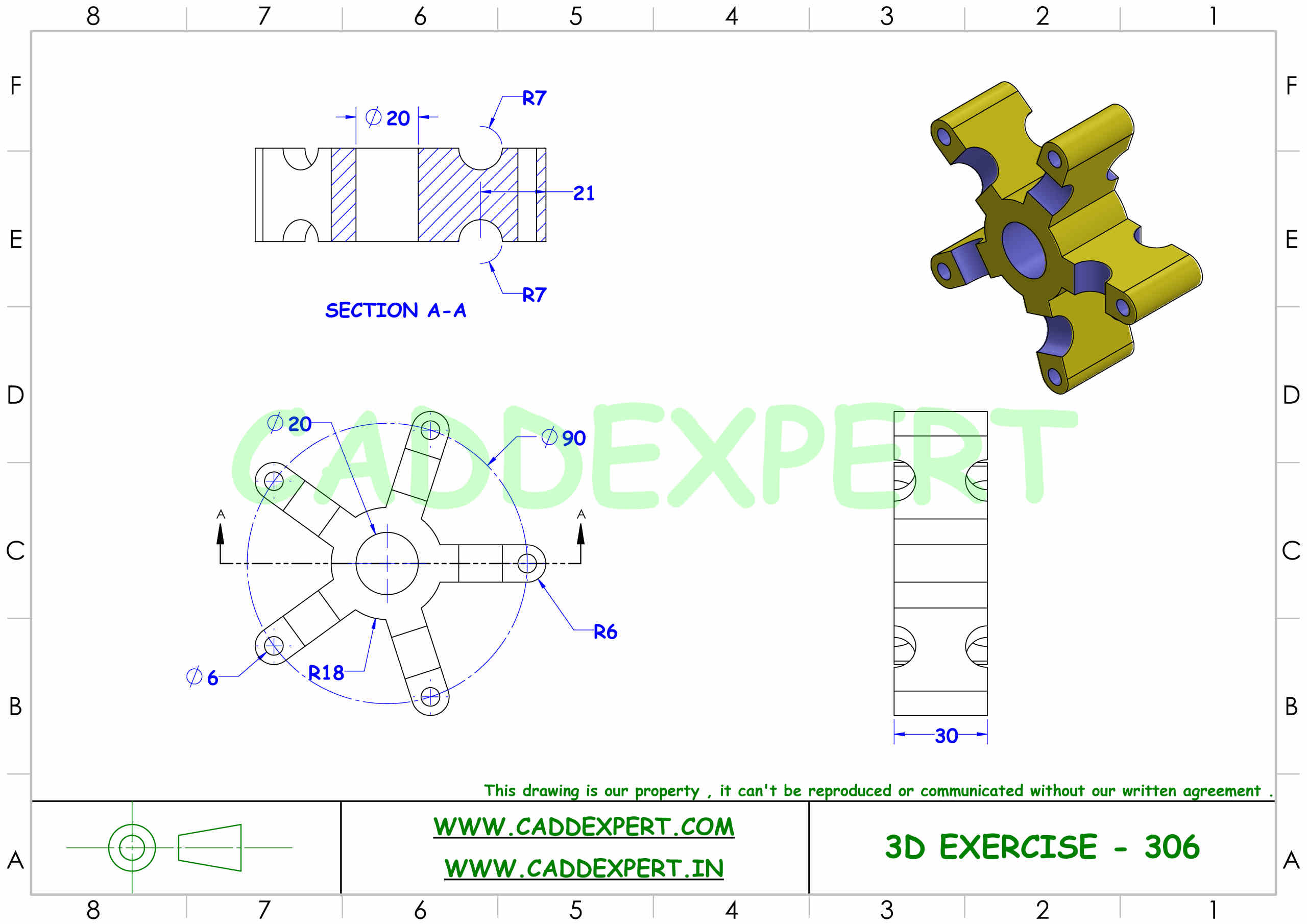 SOLIDWORKS 3D DRAWING FOR PRACTICE PDF - 6