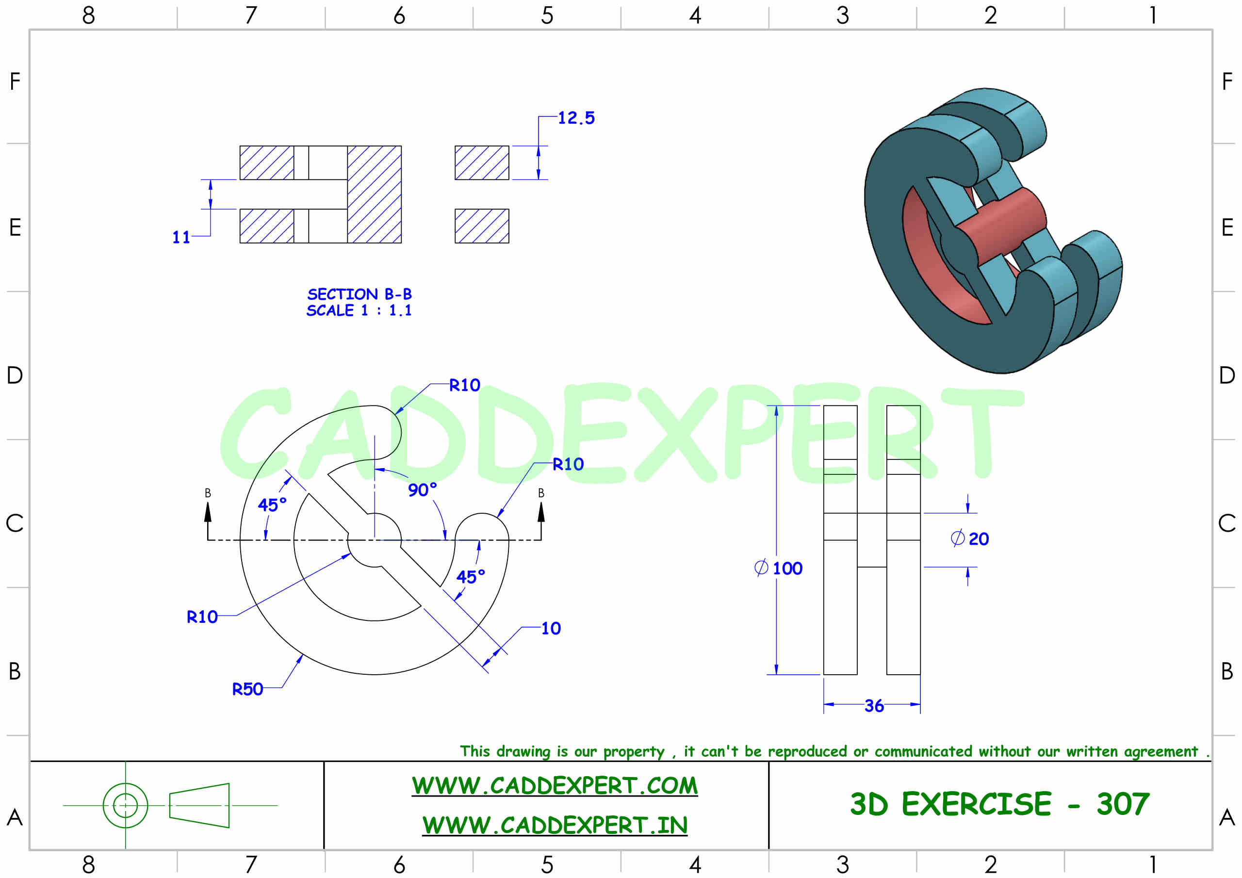 SOLIDWORKS 3D DRAWING FOR PRACTICE PDF - 7