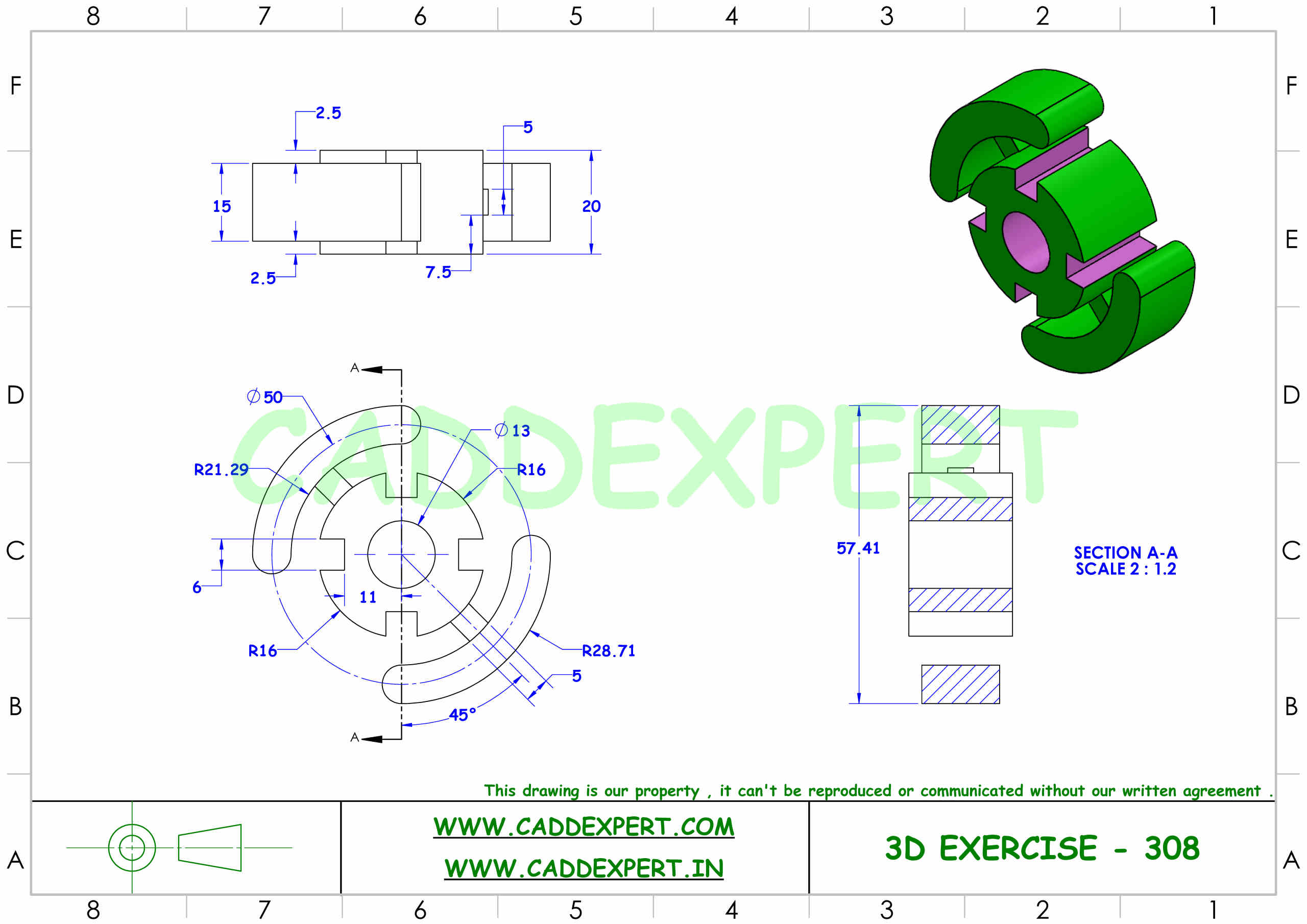 SOLIDWORKS 3D DRAWING FOR PRACTICE PDF - 8