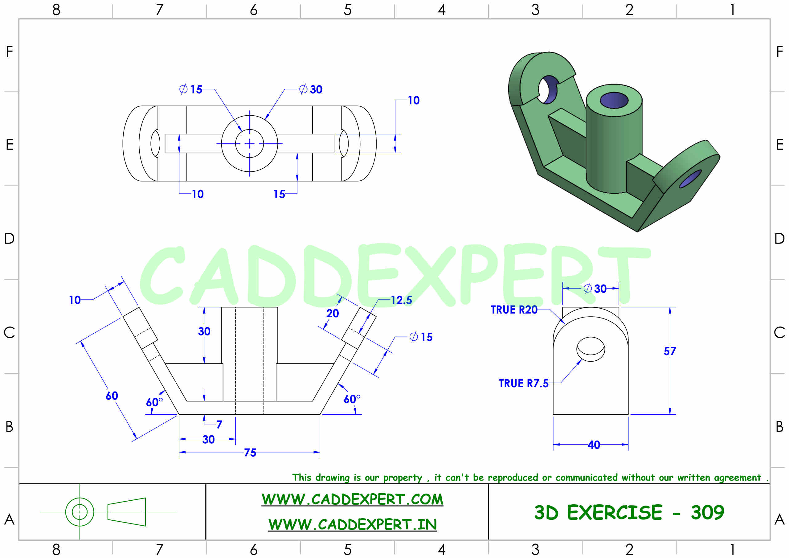 SOLIDWORKS 3D DRAWING FOR PRACTICE PDF - 9
