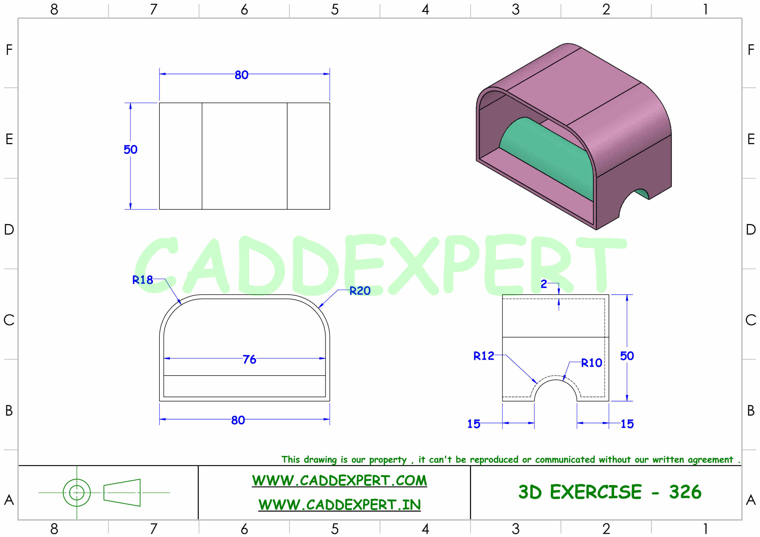 SOLIDWORKS 3D DRAWING WITH DIMENSIONS - 6
